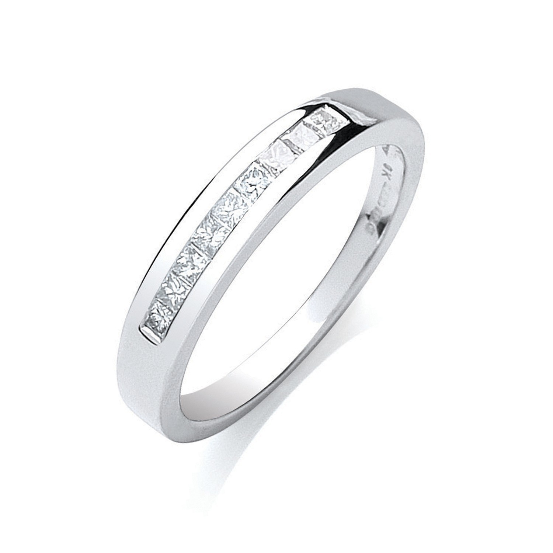9ct W/G 0.25ct Princess Cut Diamond Eternity Ring