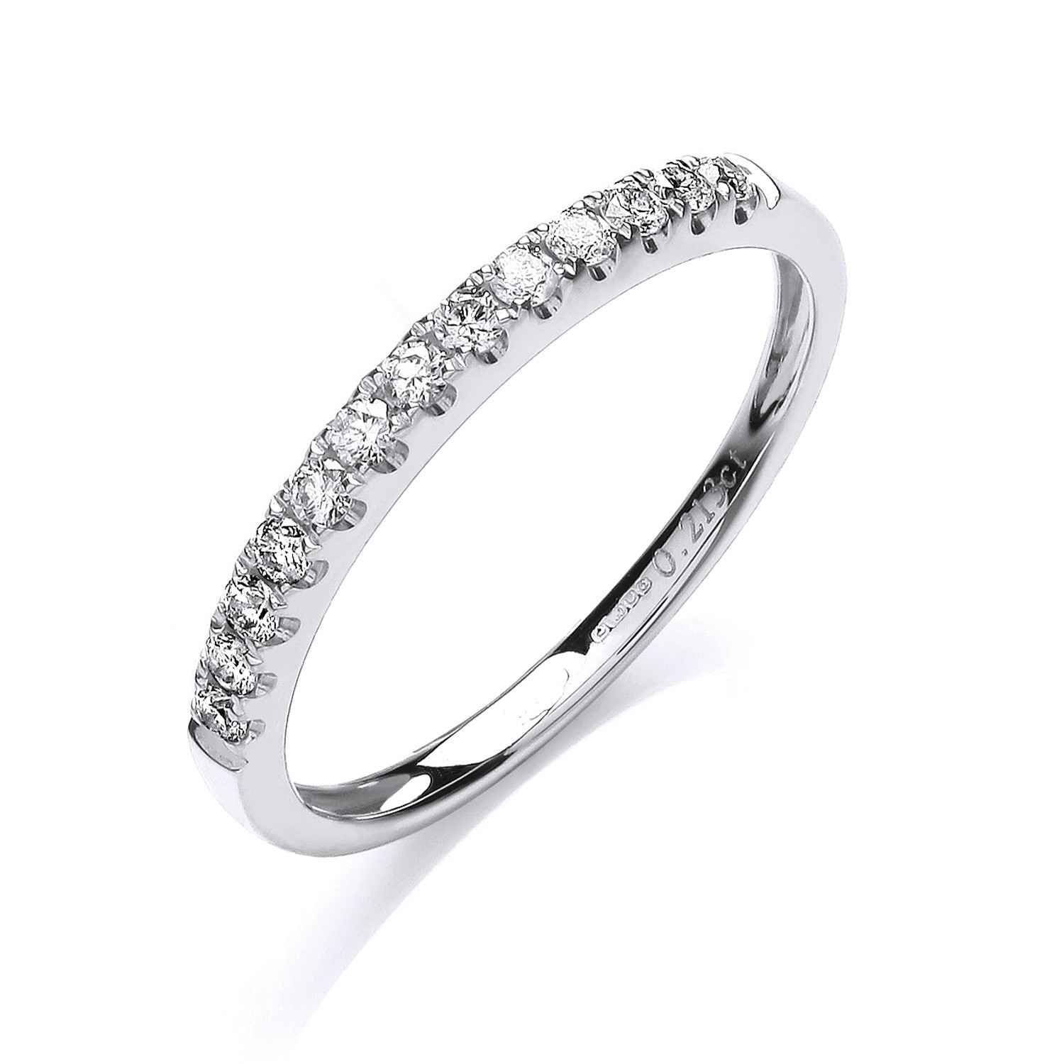 18ct White Gold 0.20ctw Half Eternity Ring