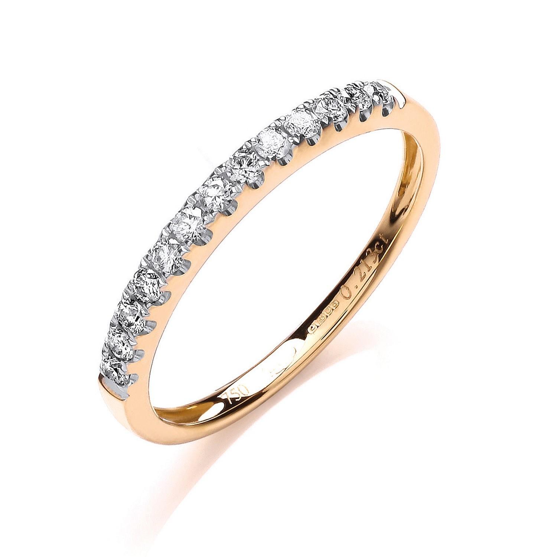 18ct Yellow Gold 0.20ctw Half Eternity Ring