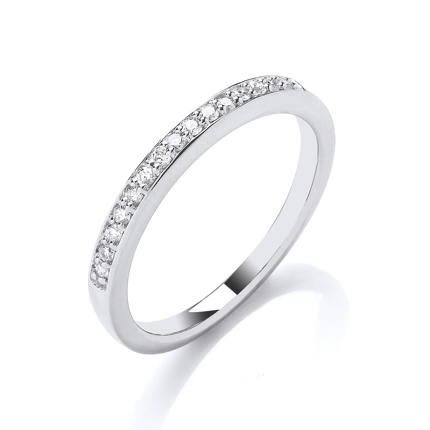 18ct White Gold 0.14ct Half Eternity Ring