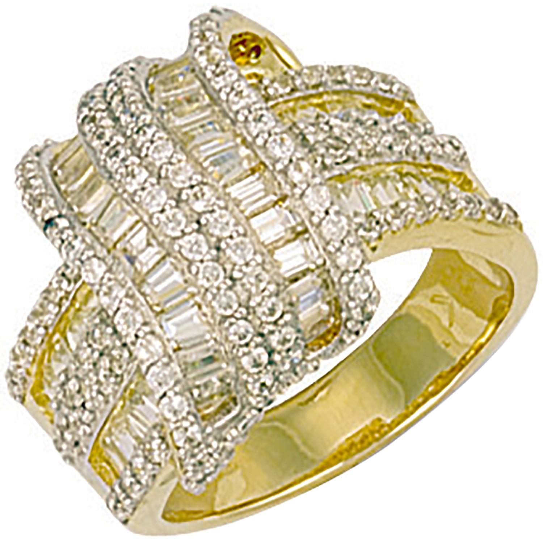Y/G Fancy Cz Crossover Ring