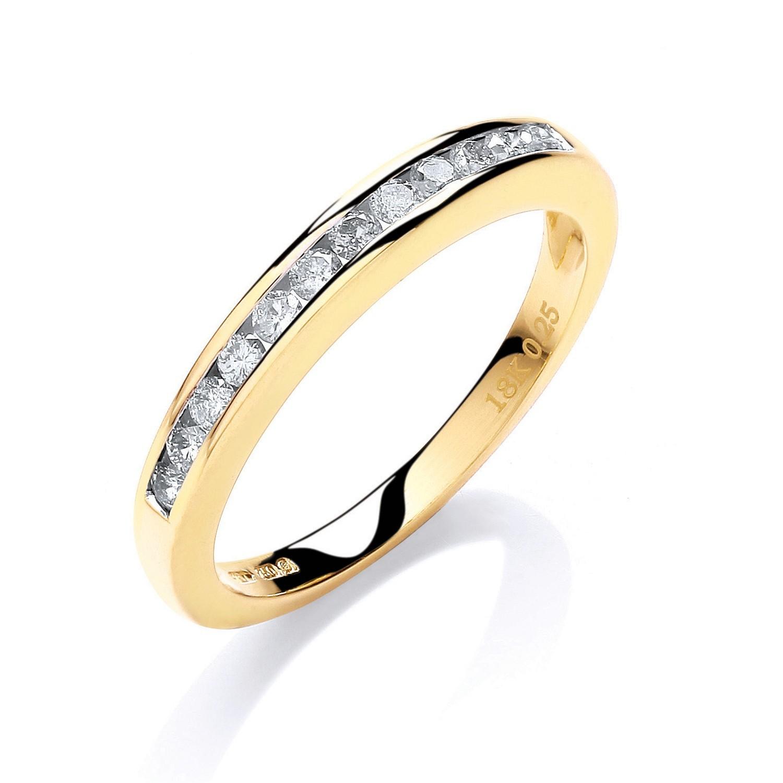 18ct Yellow Gold 0.25ctw Diamond Eternity Ring