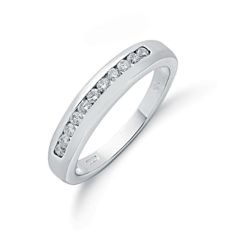 18ct White Gold 0.25ctw Diamond Eternity Ring