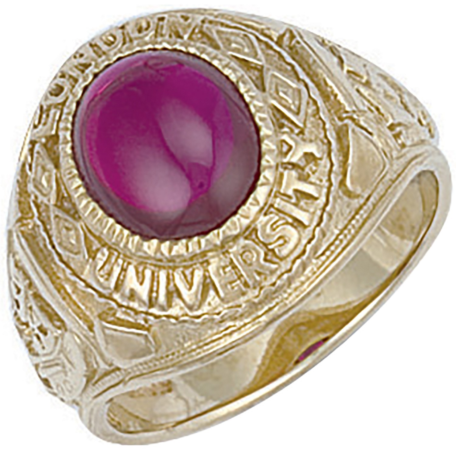 Y/G Red Cabochon London University Ring
