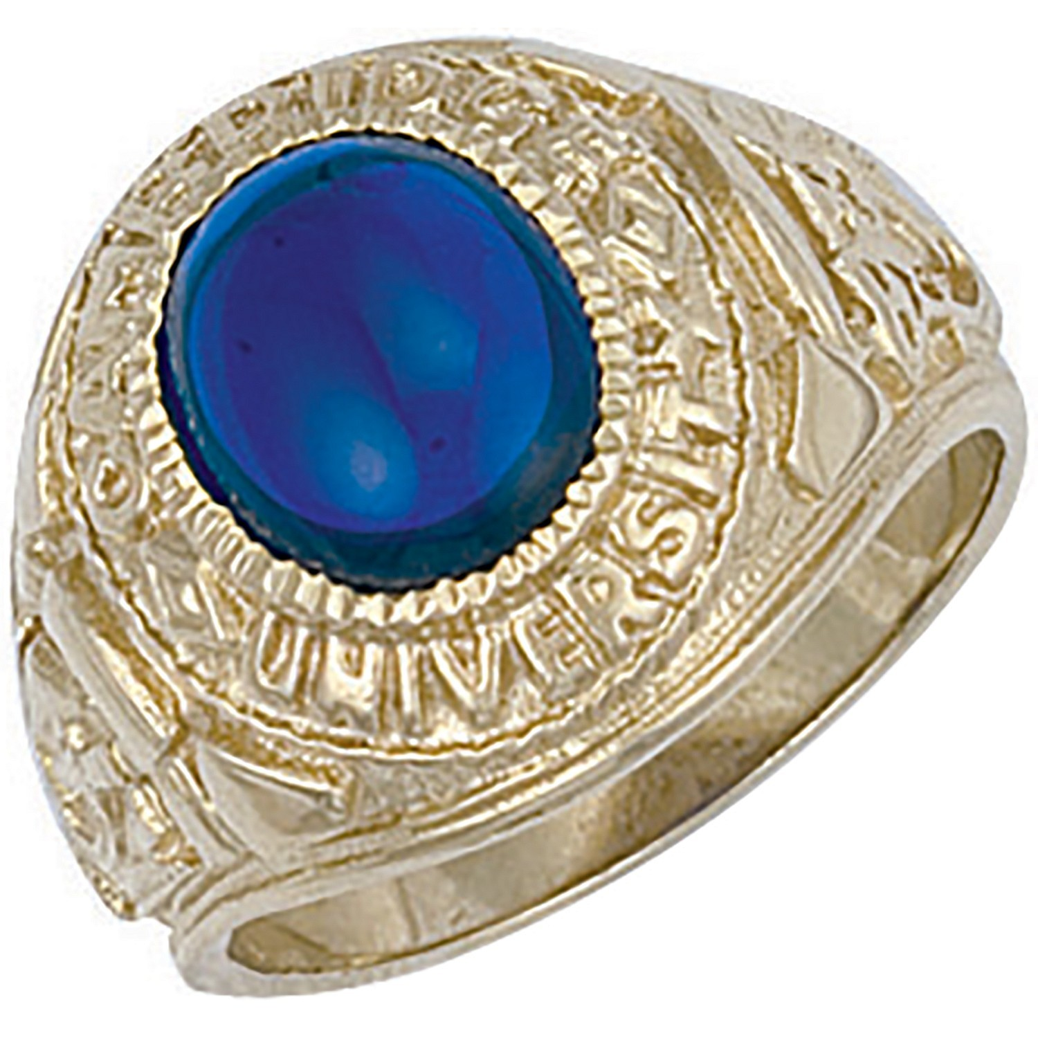 Y/G Blue Cabochon University/College Ring