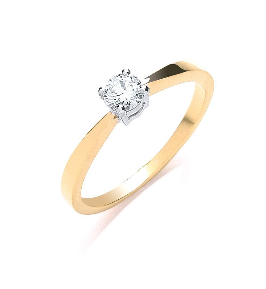 18ct Yellow Gold 0.25ct Diamond Engagement Ring