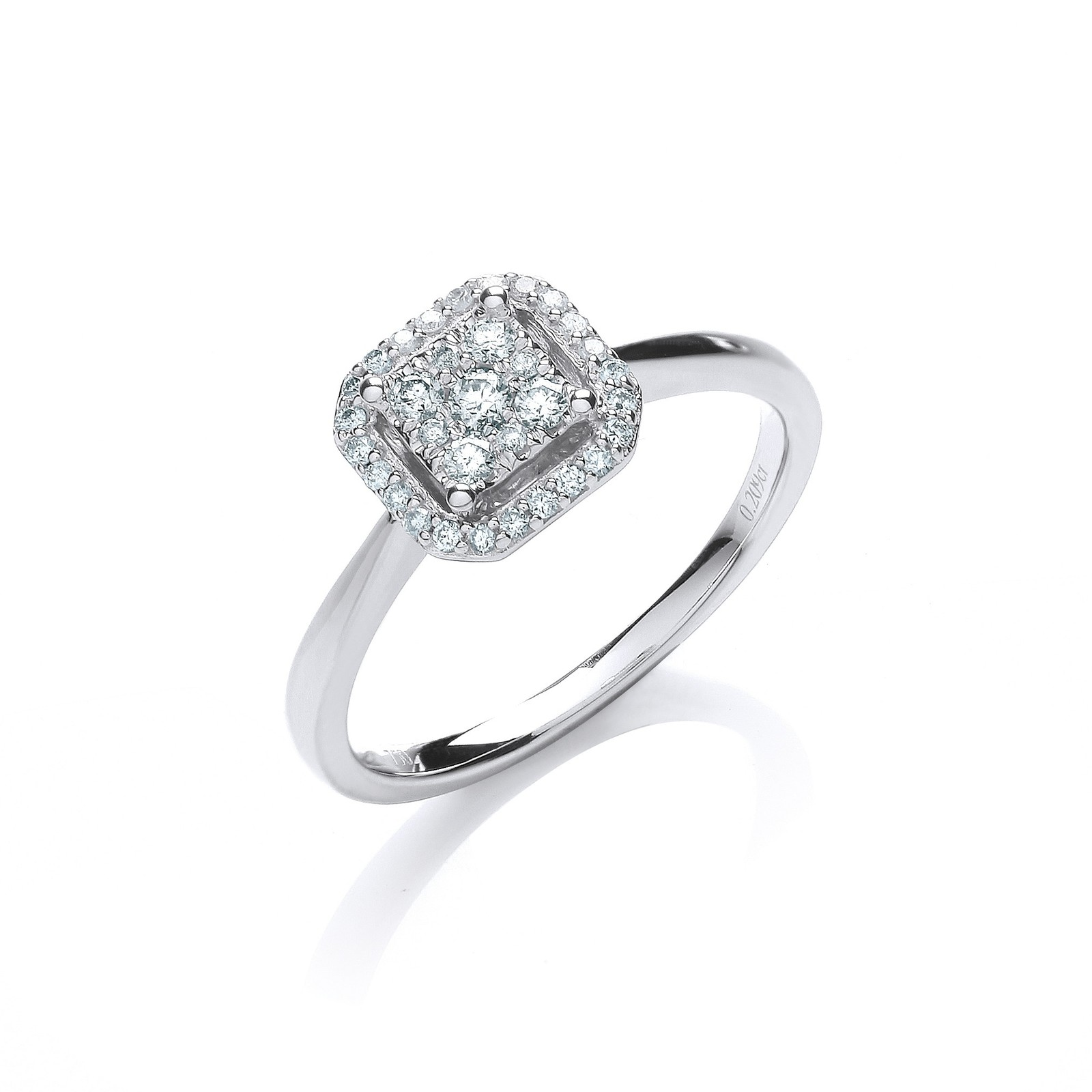 18ct White Gold 0.20ct Diamond Dress Ring