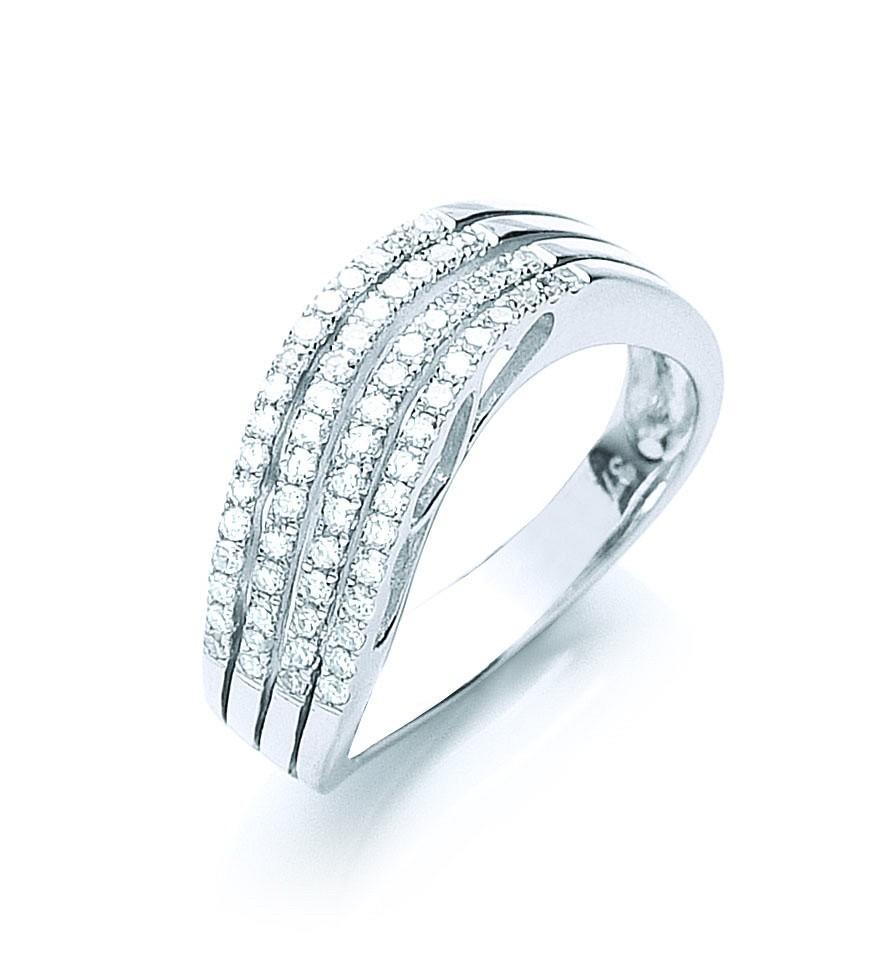 9ct W/G 0.41ct Diamond Ring