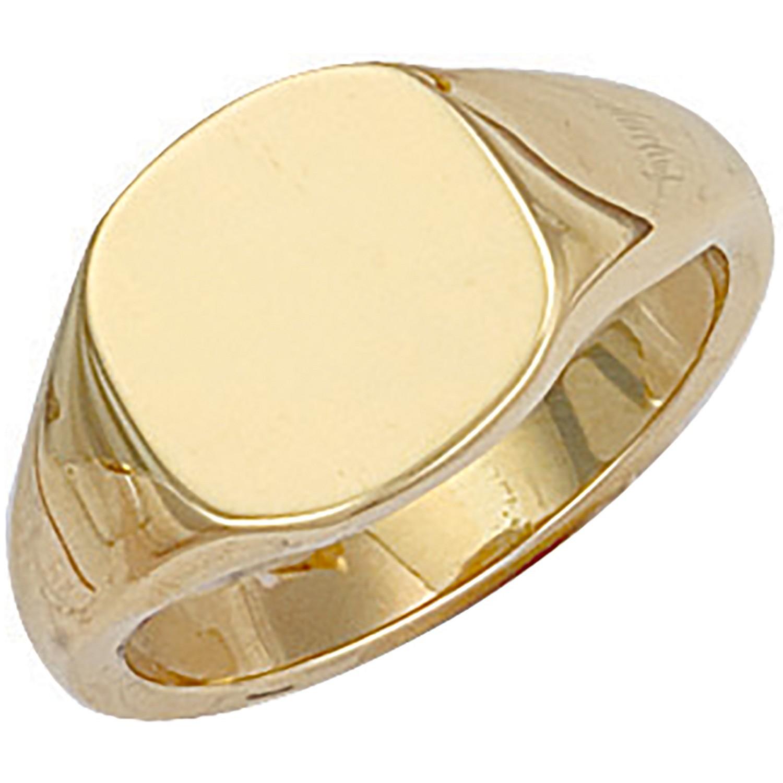 Y/G Cushion Plain Signet Ring