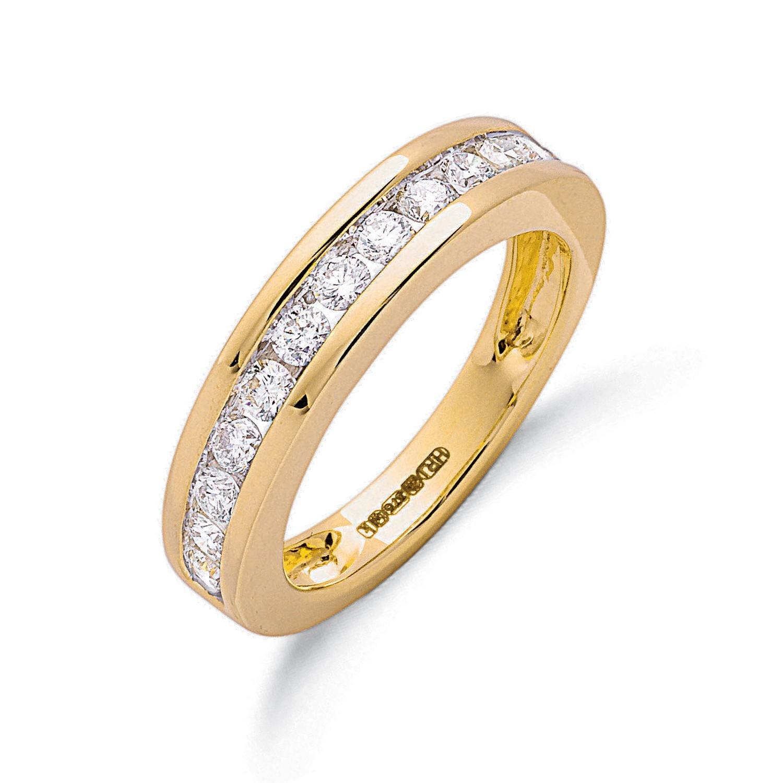 9ct Y/G 0.75ct Diamond Eternity Ring