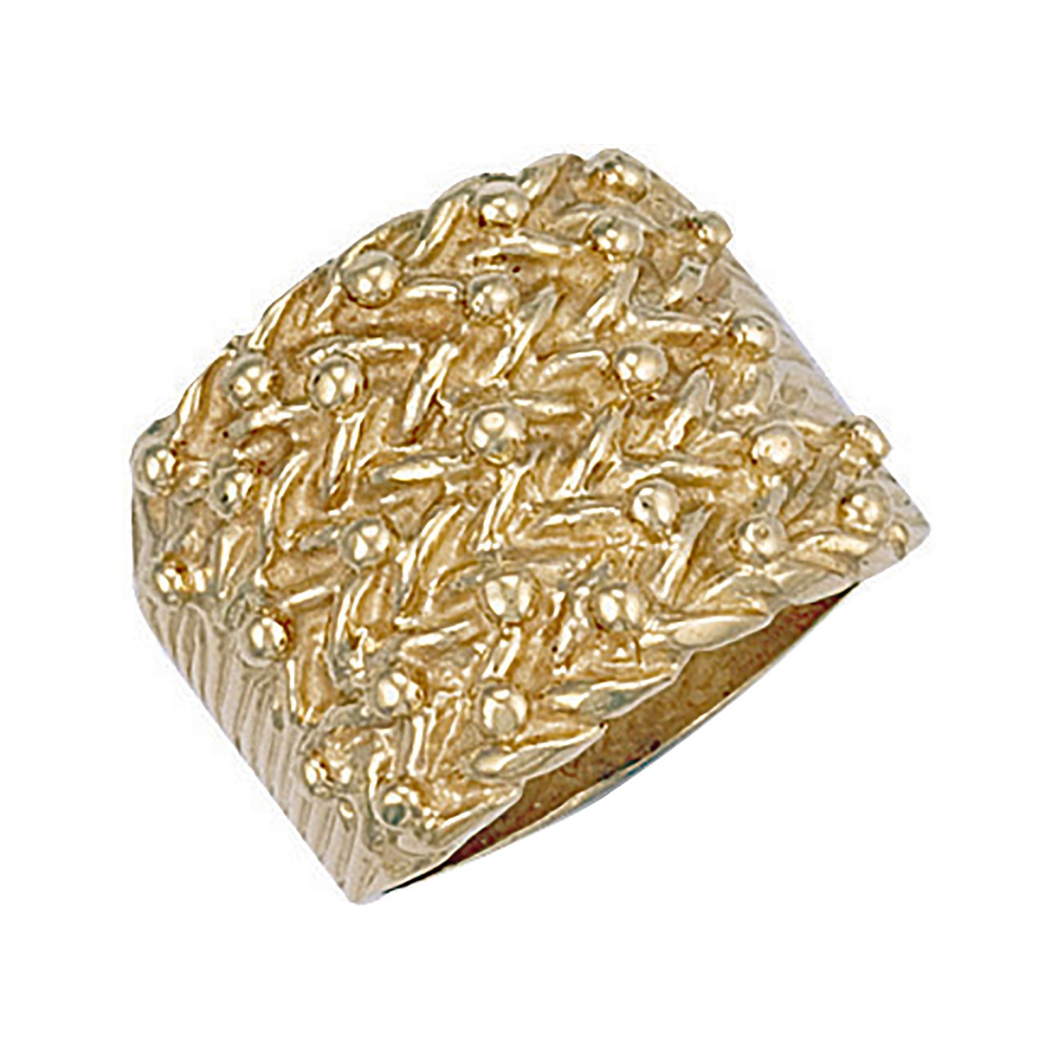 Y/G Woven Back 5 Row Keeper Ring