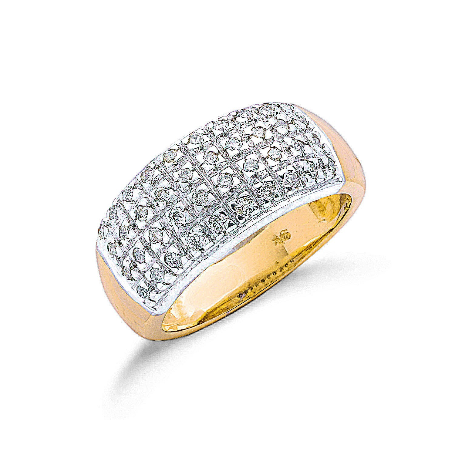 9ct Y/G 0.50ctw Diamond Bombay Ring