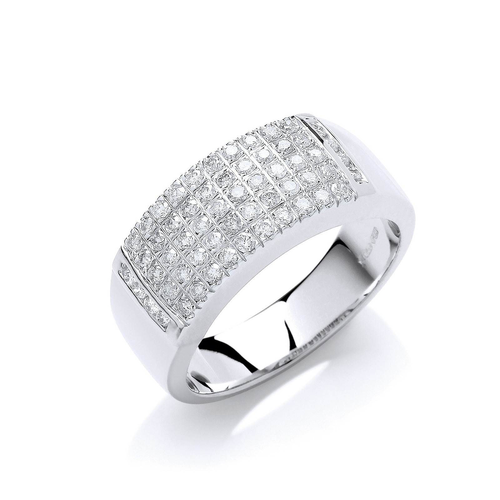 9ct W/Gd 0.50ct Diamond Ring