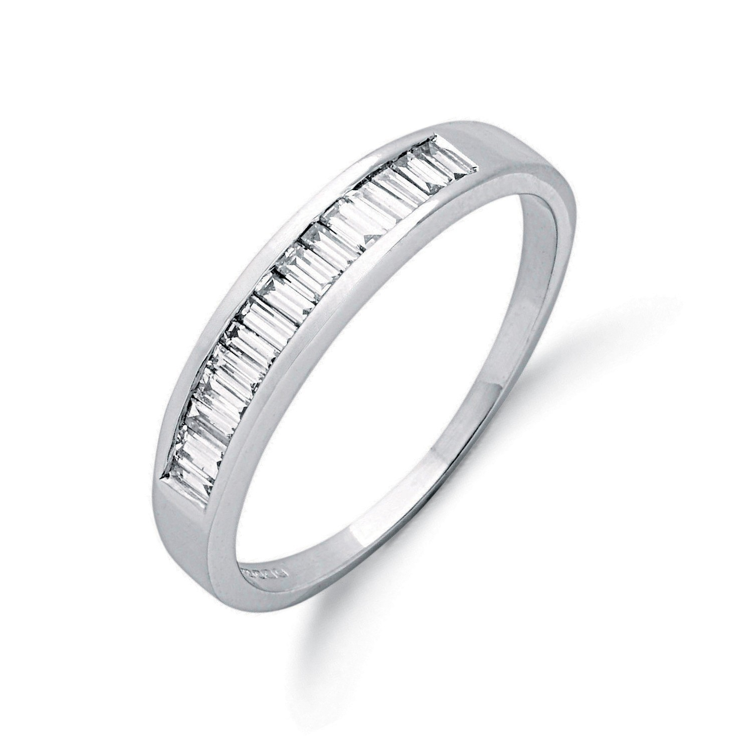 9ct W/G 0.50ct Baguette Cut Diamond Eternity Ring