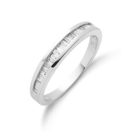 18ct White Gold 0.25ctw Baguette Cut Diamond Eternity Ring