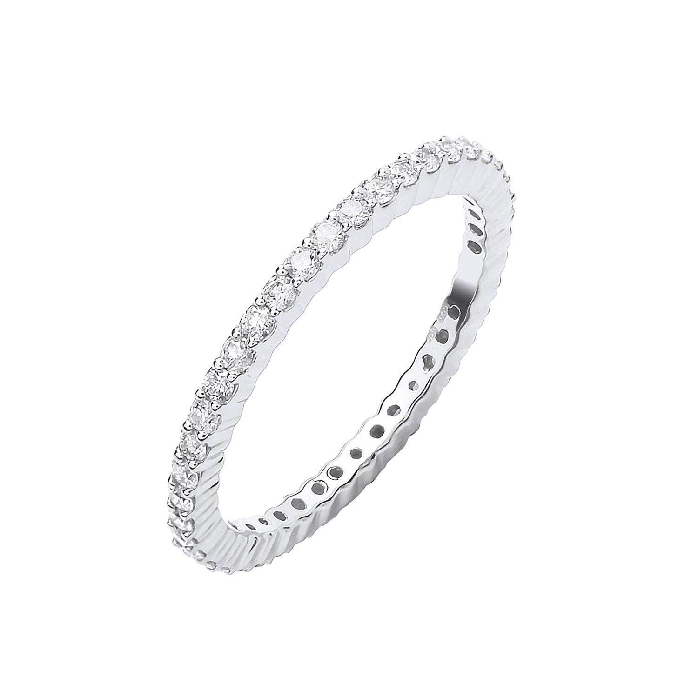 18ct White Gold 0.50ct Full Diamond Eternity Ring