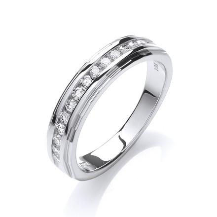 18ct White Gold 0.25ctwDiamond Eternity Ring