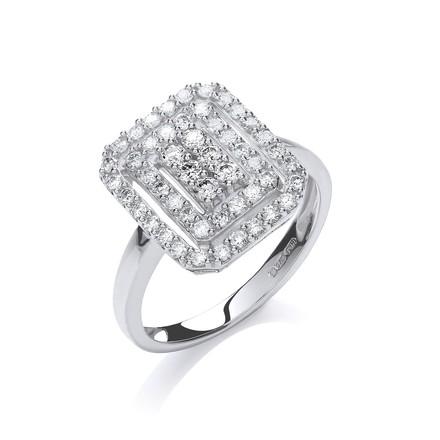 9ct W/G 0.50ct Diamond Dress Ring