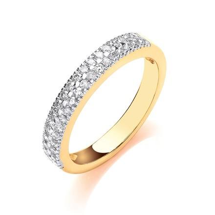18ct Yellow Gold 0.31ctw Diamond Eternity Ring