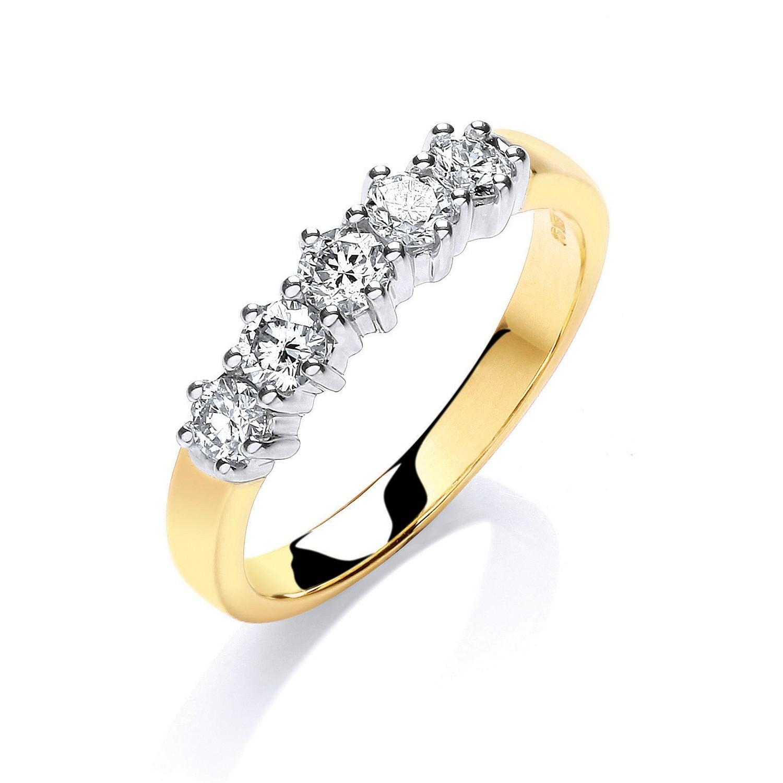 9ct Y/G 0.50ct 5 Stone Diamond Eternity Ring