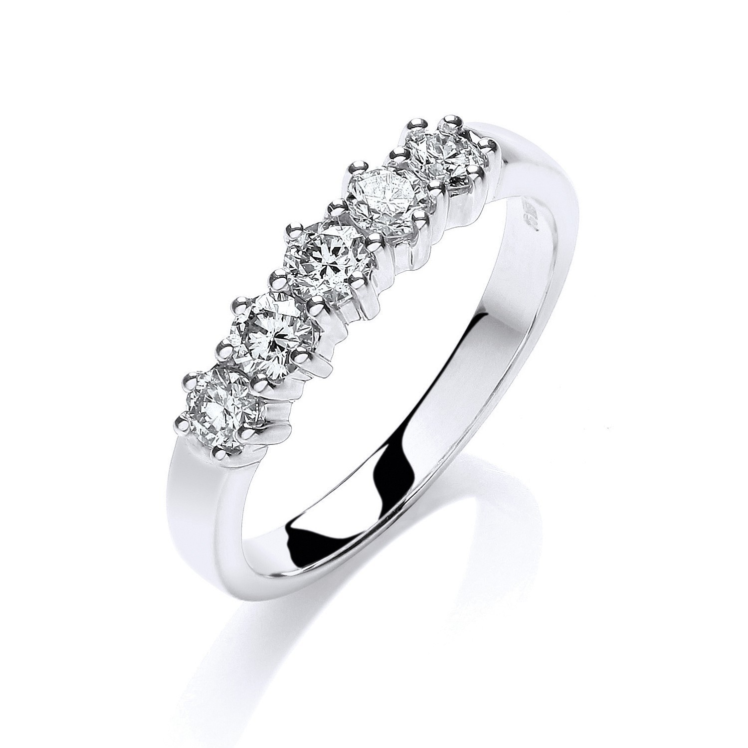 9ct W/G 0.50ct 5 Stone Diamond Eternity Ring
