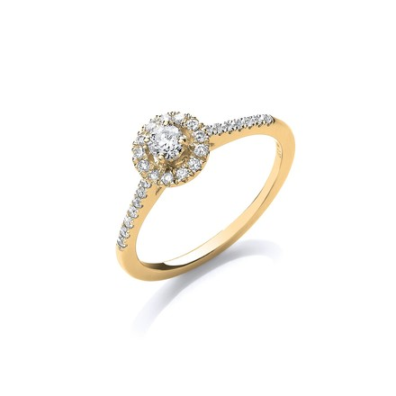 Selling: 18ct Yellow Gold 0.37ct Fancy Engagement Ring