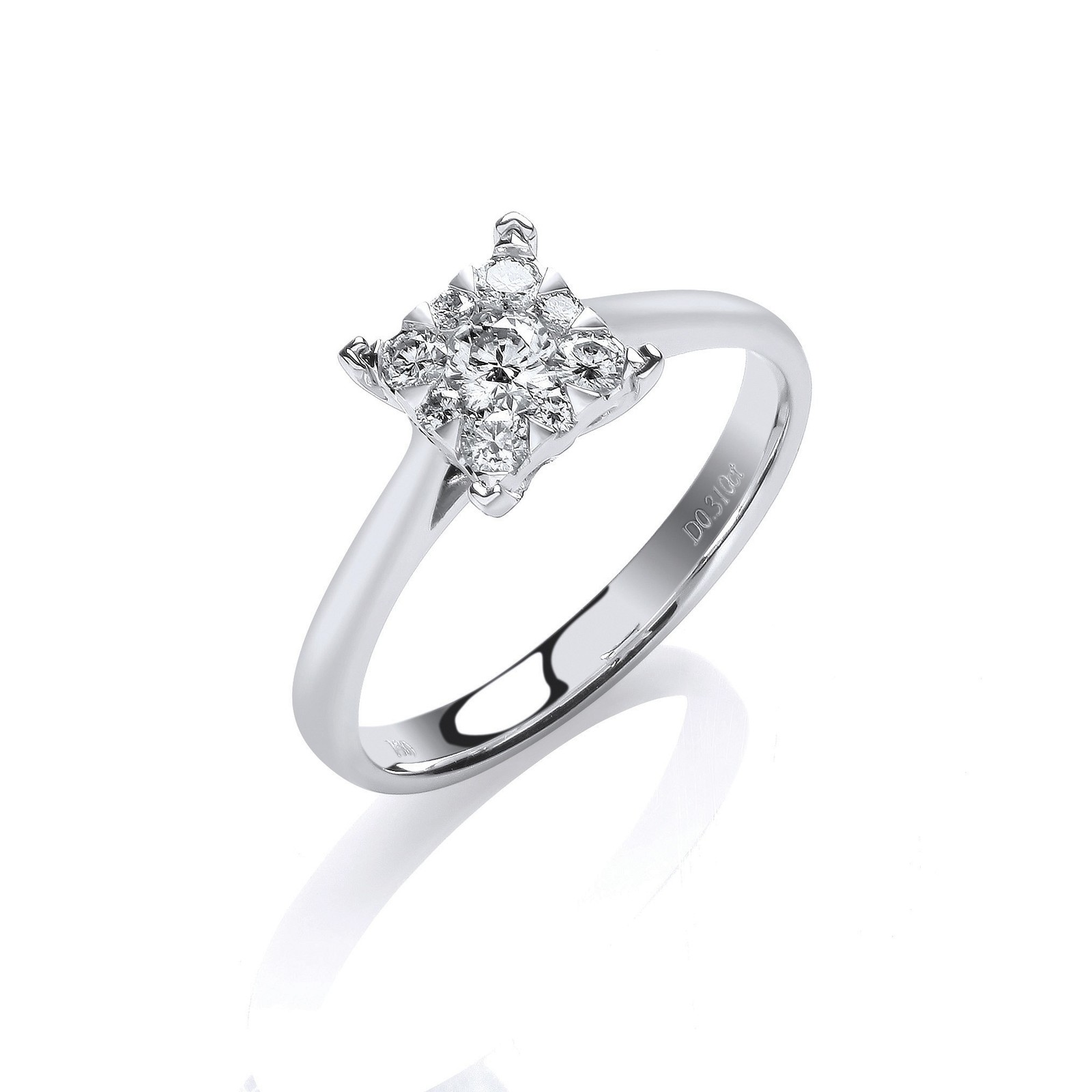 18ct White Gold 0.30ct H-SI Engagement Ring