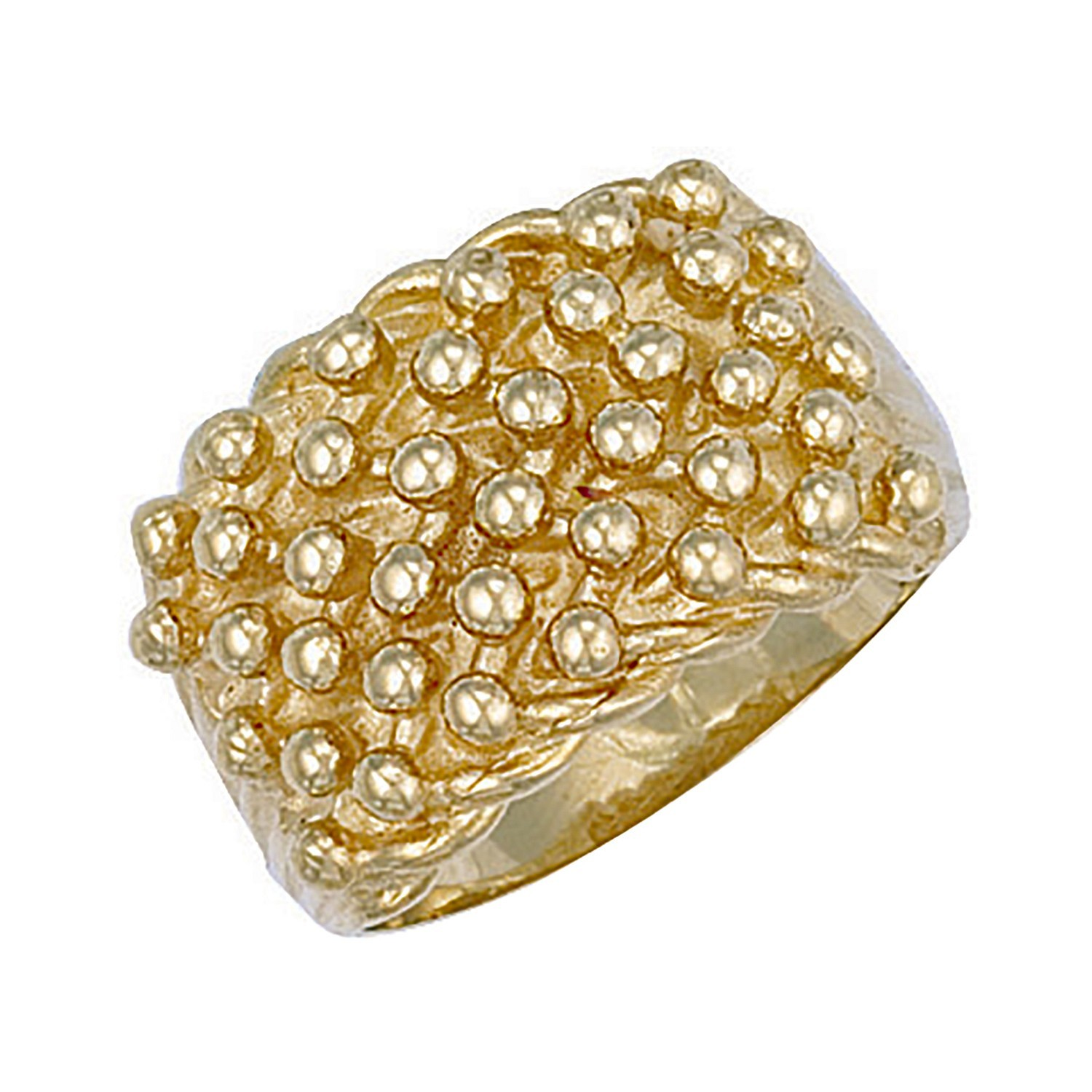 Y/G Woven Back 6 Row Keeper Ring