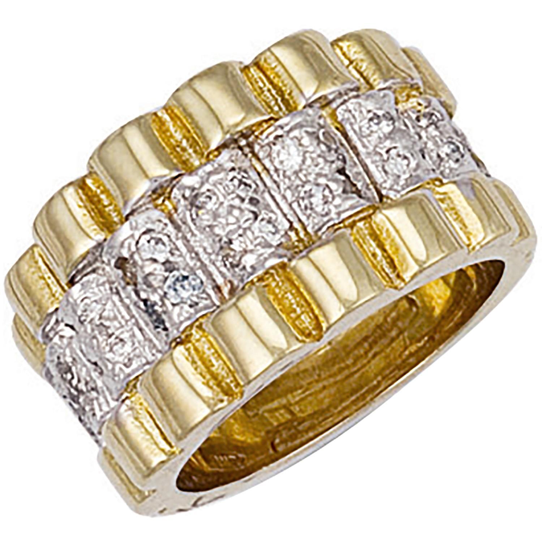 Y/G Gents Cz Ring