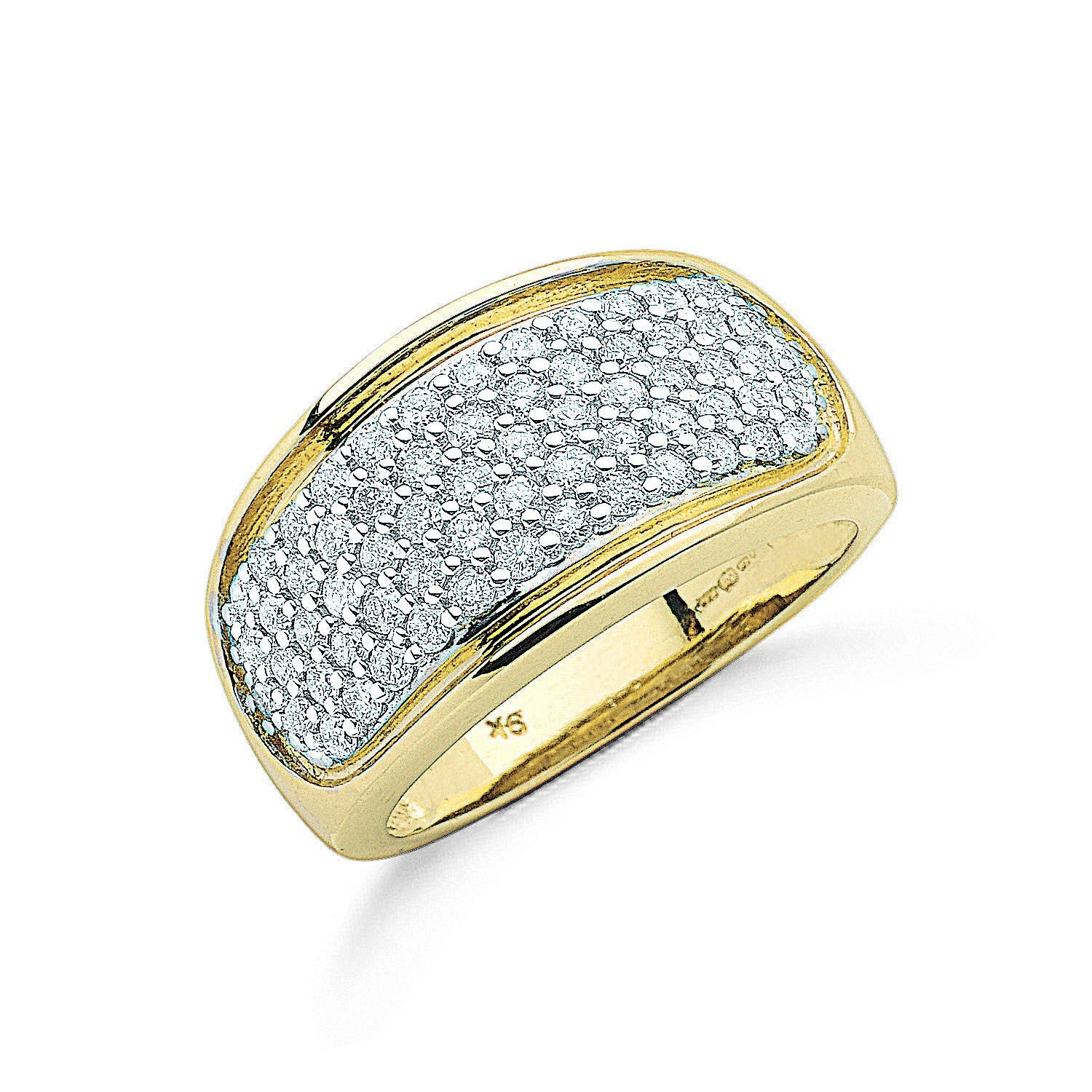 9ct Y/G 1.00ctw Diamond Bombay Ring