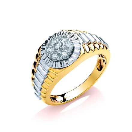 Selling: 9ct Y/W Gold 0.50ct Two Coulour Diamond Ring
