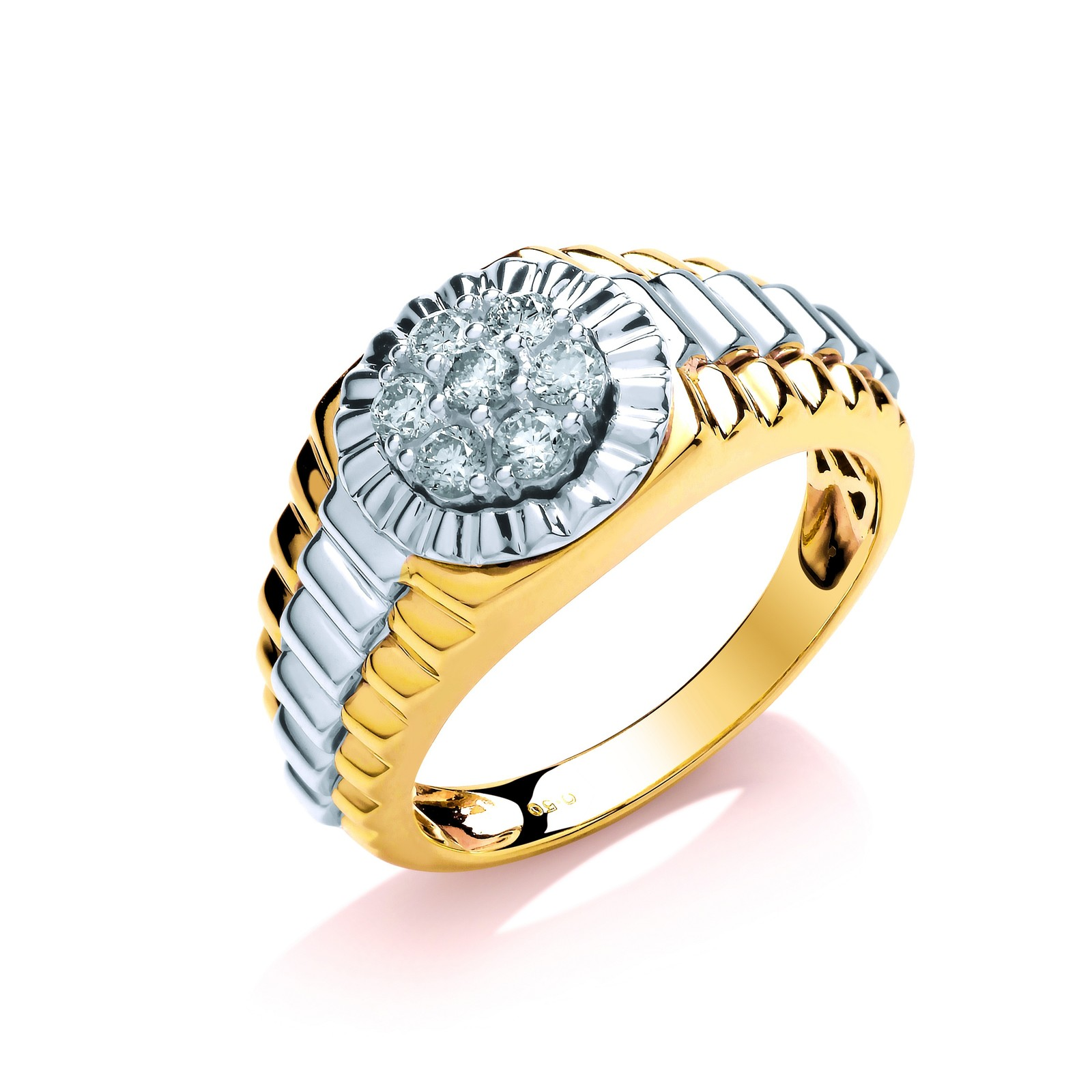 9ct Y/W Gold 0.50ct Two Coulour Diamond Ring