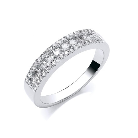 Selling: 18ct white  Gold 0.50ct GH-SI Diamond Half Eternity Ring