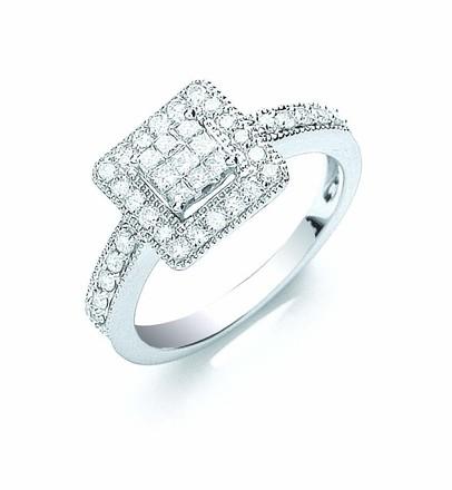 Selling: 18ct White Gold 0.50ct Diamond Ring
