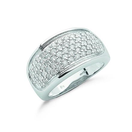 Selling: 9ct W/G 1.00ct Diamond Bombay Ring