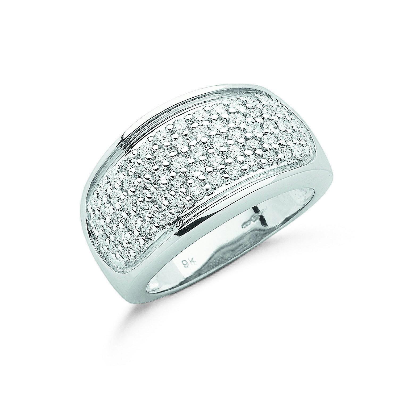 9ct W/G 1.00ct Diamond Bombay Ring