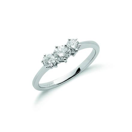 Selling: 18ct White Gold 0.50ct Diamond Trilogy Ring
