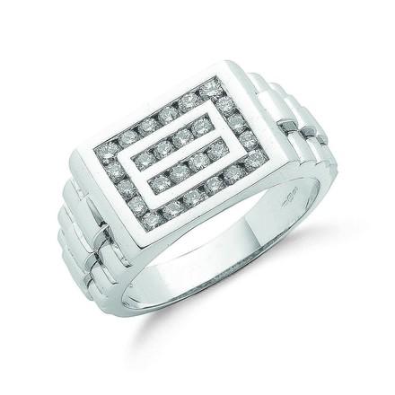 Selling: 9ct W/G 0.66ct Gents Diamond Ring