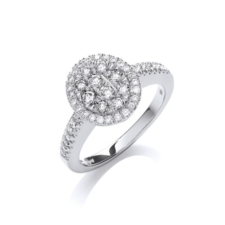Selling: 18ct White Gold 0.50ct Diamond Dress Ring