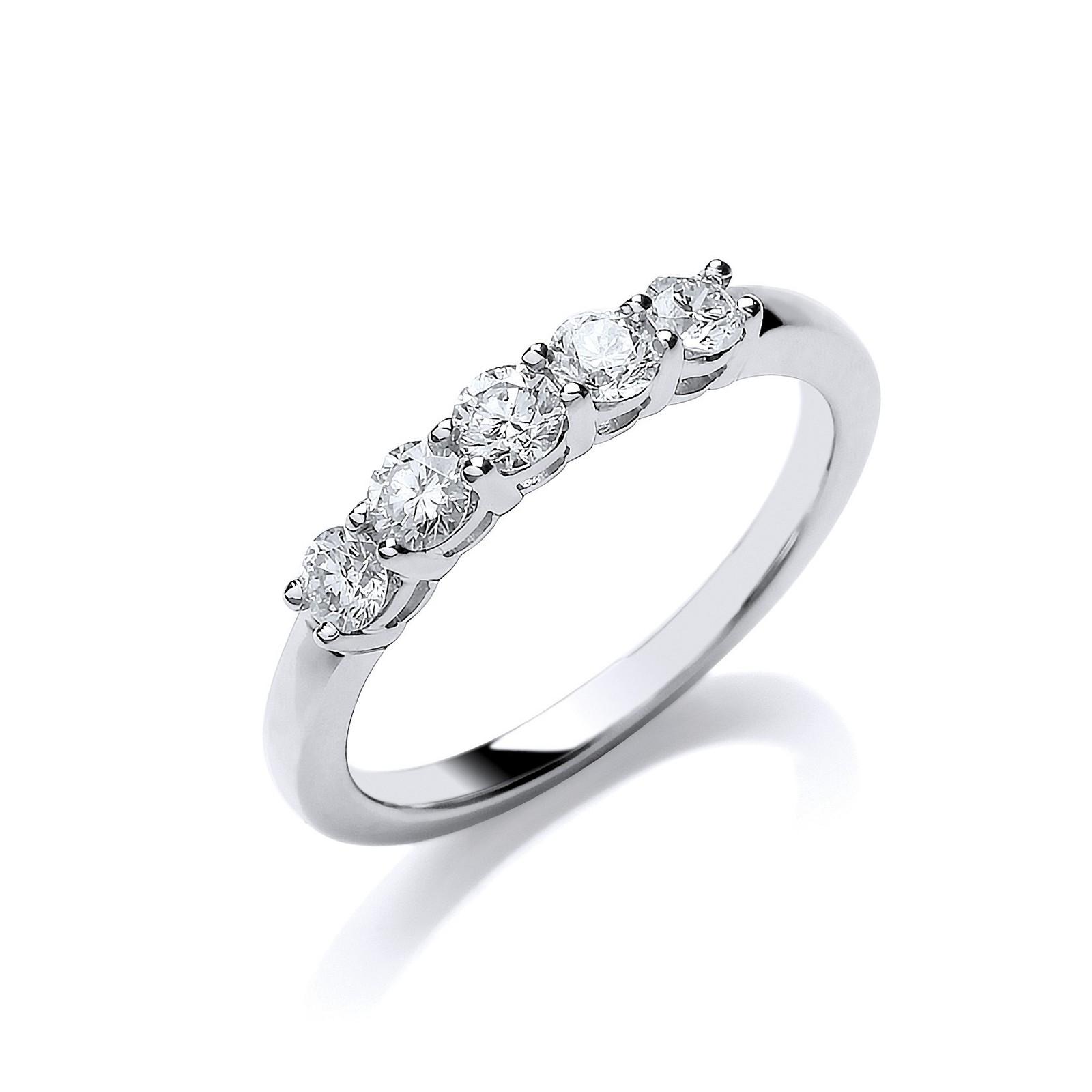 Platinum 0.50ct Diamond Ring