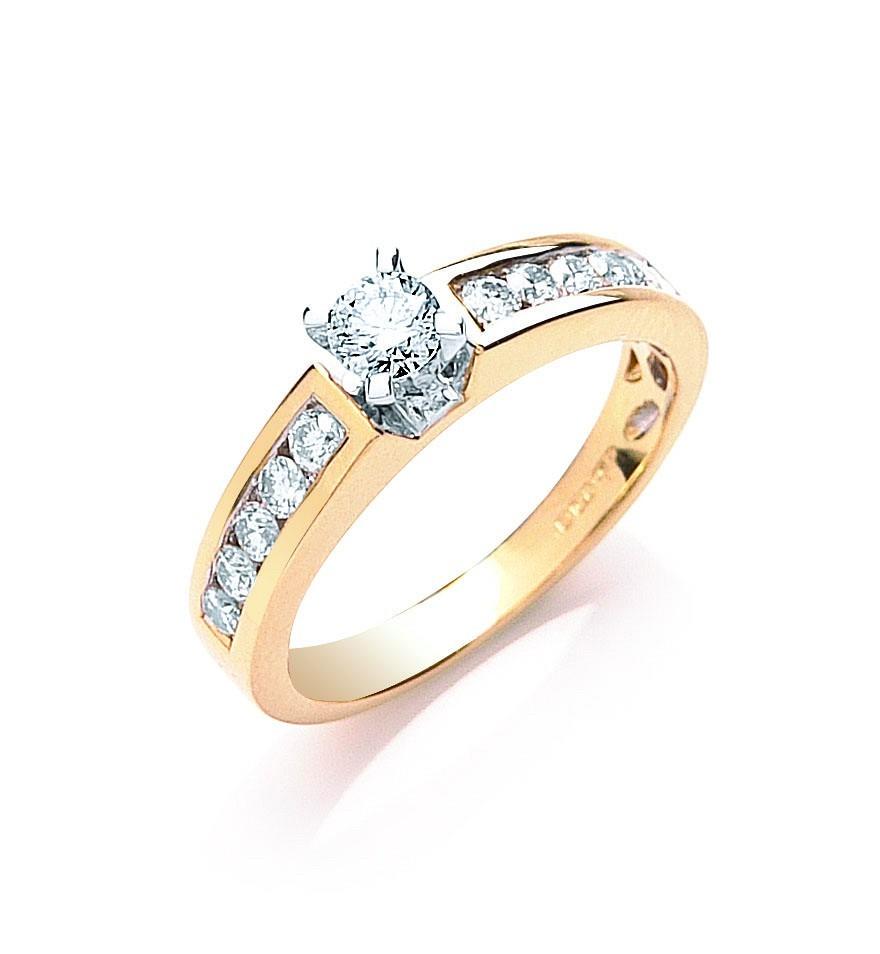 18ct Yellow Gold 0.50ctw Brilliant Cut Diamond Ring