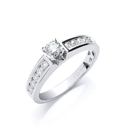 Selling: 18ct White Gold 0.50ct Brilliant Cut Diamond Ring