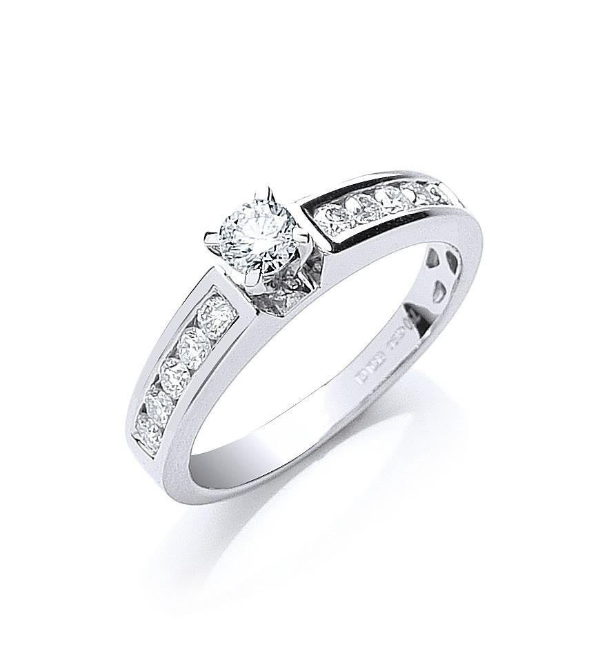 18ct White Gold 0.50ct Brilliant Cut Diamond Ring