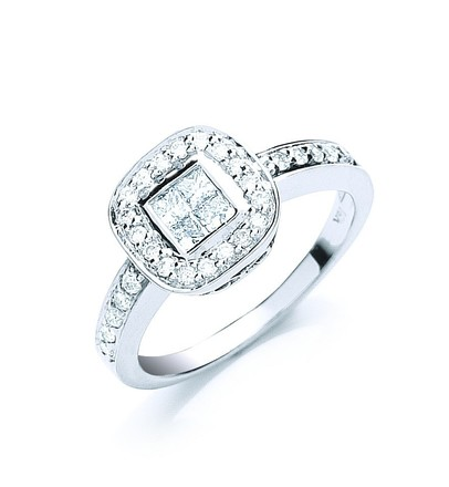 Selling: 18ct White Gold 0.60ct Fancy Diamond Ring