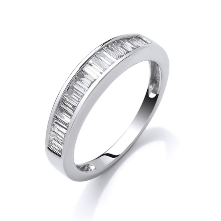 Selling: 18ct White Gold 0.50ctw Baguette Cut Diamond Eternity Ring