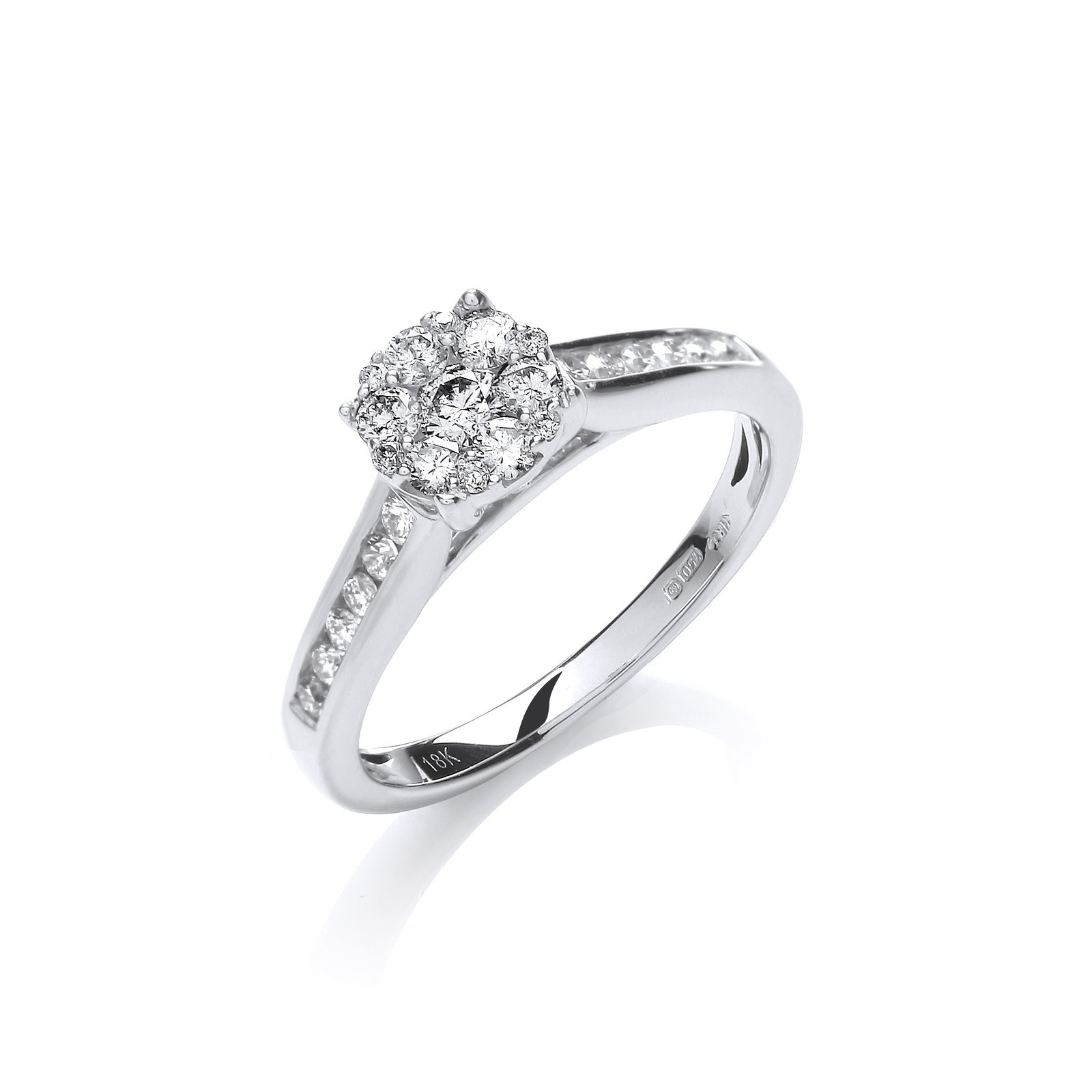 18ct White Gold 0.50ct Diamond Dress Ring
