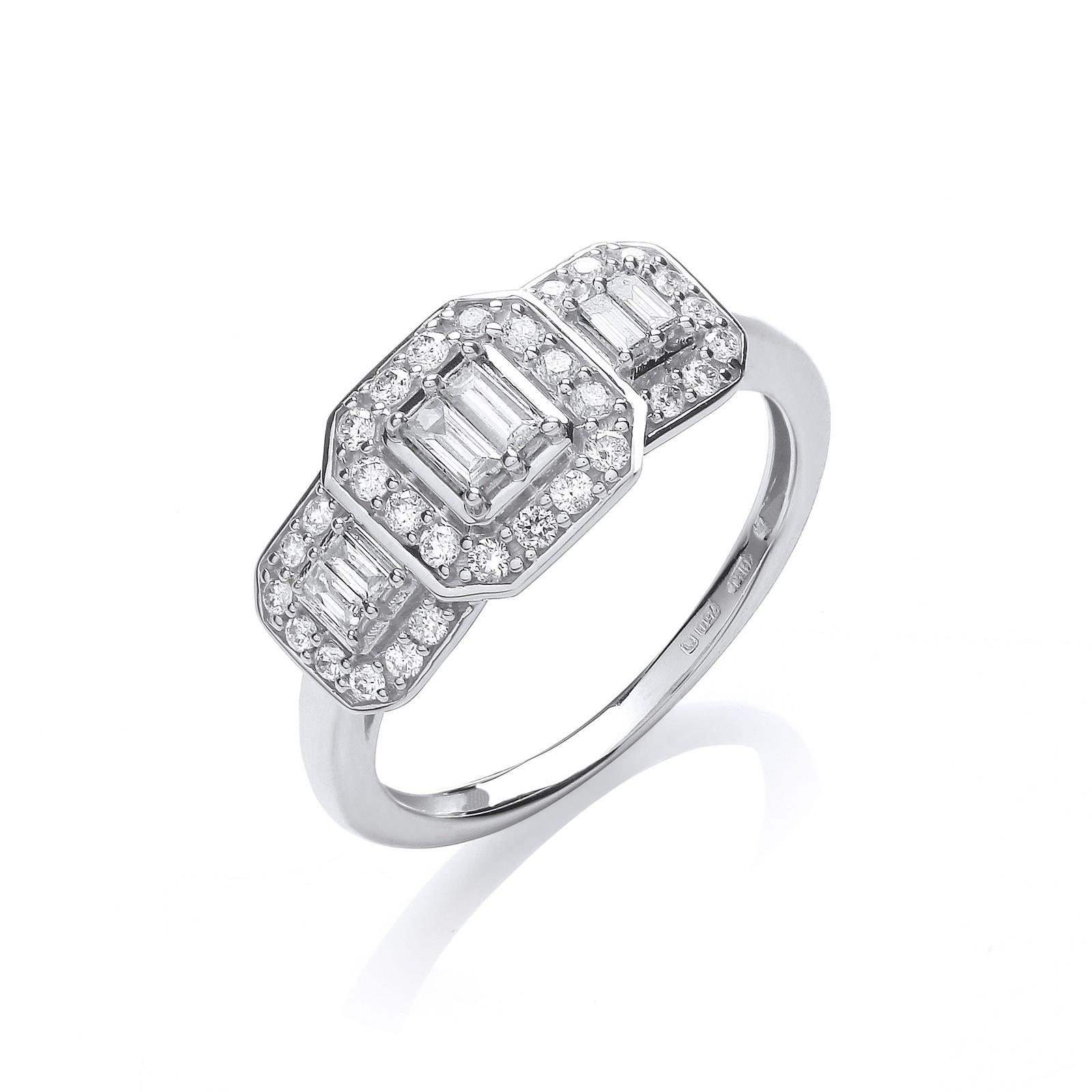 18ct White Gold 0.50ct Diamond Dress Ring