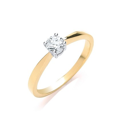 Selling: 18ct Yellow Gold 0.35ct Diamond Engagement Ring
