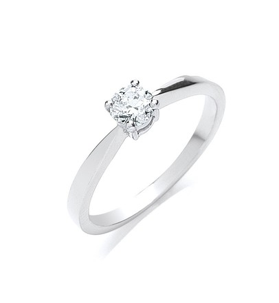 Selling: 18ct White Gold 0.35ct Diamond Engagement Ring
