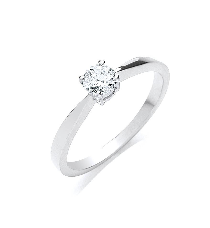 18ct White Gold 0.35ct Diamond Engagement Ring
